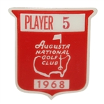Deane Bemans 1968 Masters Tournament Contestant Badge #5 - Bob Goalby Winner