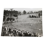 Paul Runyan & Bobby Cruickshank Press Photo on 18th Green at 1936 US Open at Baltusrol