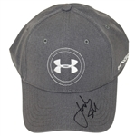 Jordan Spieth Signed Under Armor Logo Charcoal Gray Hat JSA #P76656