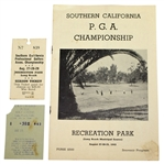 1943 Southern California PGA Championship Golf Program with Two Tickets