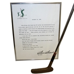 Sam Snead Personal 1950s Wilson Pay-Off Putter with Signed Letter JSA ALOA