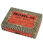 Troxol-50 Golf Ball Box with 7 Square Mesh Golf Balls - Elyria, OH - Circa 1920s