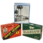Three Vintage Golf Ball Boxes - Tommy Armour, Glasgow, & Harvester Club