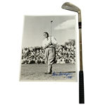 Gene Sarazen Signed Photo with Wilson Sample Size 88th Birthday to Gene 5 Iron JSA ALOA
