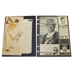 Two Sam Snead Signed Articles on Scrapbook Page JSA ALOA