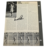 Arnold Palmer Signed Article with Opposite Page of Sam Snead Signed Photo JSA ALOA