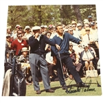 Arnold Palmer Signed Smoking Cigarette at 1966 Masters Photo with Ben Hogan JSA ALOA