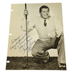Lawson Little Signed Photo with Inscription & Personalization - 1947 JSA ALOA
