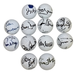 Twelve Signed Golf Balls - Dent, Jacobsen, Dougherty, and others JSA ALOA