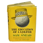 Sam Snead Signed The Education of a Golfer 1962 Book - Signed on Cover JSA ALOA