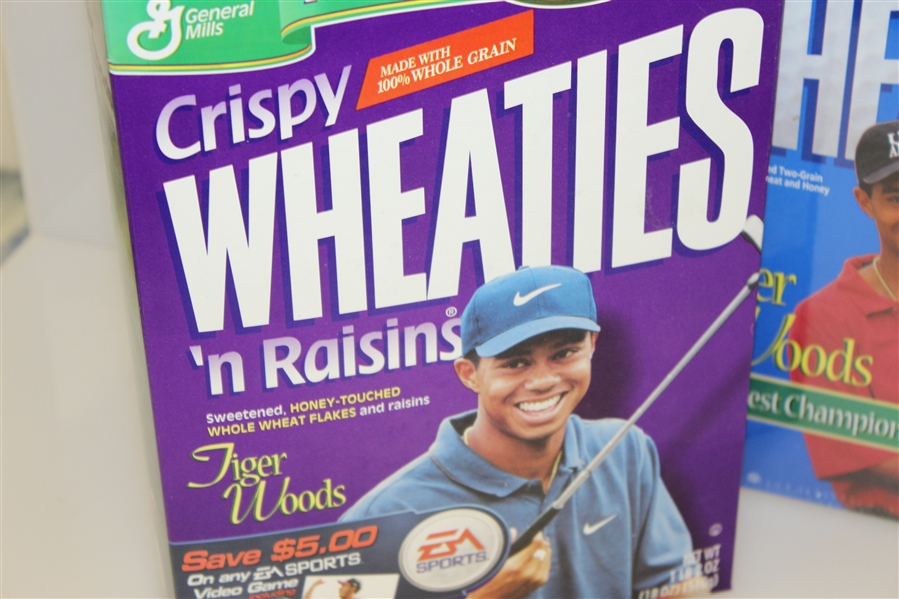 Tiger Woods Commemorative Wheaties Cereal Boxes - Crispy, Maple, Frosted, & Wheat