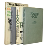 Four Ben Hogan Golf Books - Five Lesson, Man Who Played for Glory, & Power Golf(x2)
