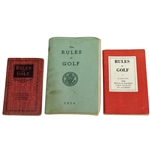 Three R&A and USGA Rules of Golf Booklets - 1920, 1952, & 1954