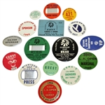 Sixteen Miscellaneous Badges - Walter Hagen Factory, Guest, Officials, Clubhouse, Staff, & others