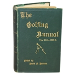 The Golfing Annual Vol. XXII 1908-09 Book by David S. Duncan - John Roth Collection