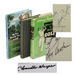 Three Signed Golf Books - Johnny Revolta, Chandler Harper, & Ken Venturi - Roth Collection JSA ALOA