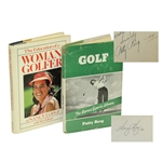 Patty Berg Signed 1941 Golf & Nancy Lopez Signed 1979 Woman Golfer Books - Roth Collection JSA ALOA