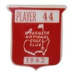 Bob Goalbys 1962 Masters Tournament Contestant Badge #44 - Arnold Palmer Winner