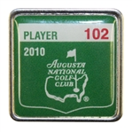 Bob Goalbys 2010 Masters Tournament Contestant Badge #102 - Phil Mickelson Winner