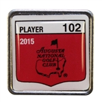 Bob Goalbys 2015 Masters Tournament Contestant Badge #102 - Jordan Spieth Winner