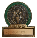 Bob Goalbys 1965 US Open at Bellerive CC Contestant Badge - Gary Player Winner