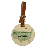 Bob Goalbys 1962 Masters Tournament Player Bag Tag - Arnold Palmer Winner
