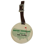Bob Goalbys 1963 Masters Tournament Player Bag Tag - Jack Nicklaus Winner