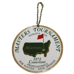 Bob Goalbys 1972 Masters Tournament Contestant Bag Tag - Jack Nicklaus Winner