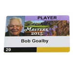 Bob Goalbys 2015 Masters Player ID Badge #29 - Jordan Spieth Winner