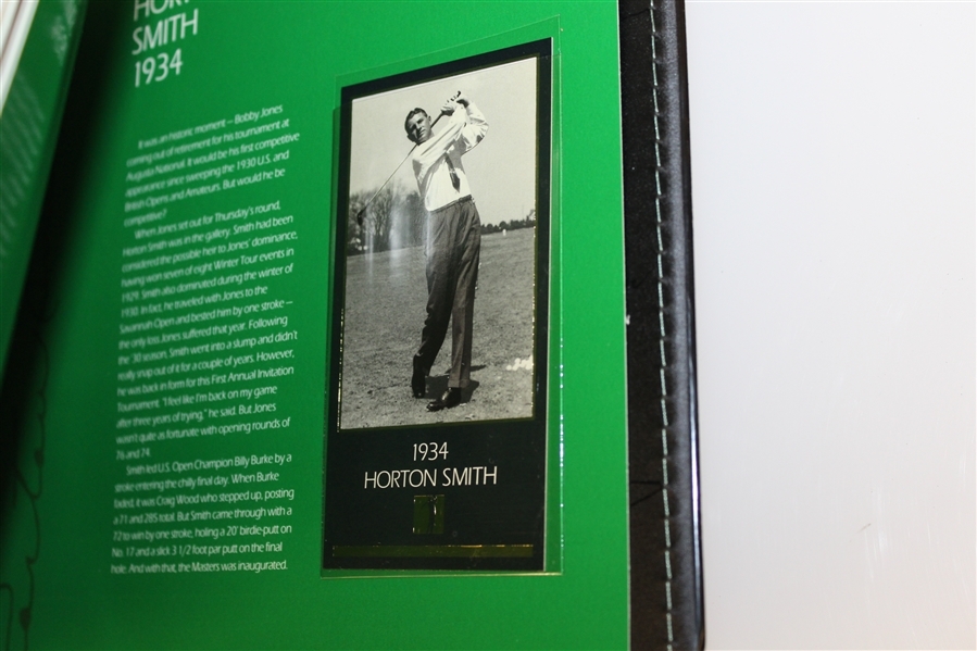 Bob Goalby's Personal GSV 'Champions of Golf' Masters Collection Book, Binder, Letters, Additions, and more