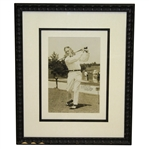 Robert T. Jones Jr. Vintage Signed Oversize Classic Swinging Photo - FULL JSA & PSA/DNA Letters - Framed