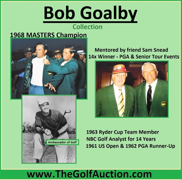 Bob Goalby's 1997 Masters Tournament Contestant Badge #89 - Tiger Woods First Masters Win!