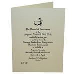 Bob Goalbys 1997 Masters Tournament Invitation from Augusta National Golf Club
