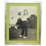 Bob Goalbys Personal Sam Snead Signed and Personalized Photo - Framed JSA ALOA