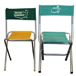 Two Classic Masters Tournament Folding Chairs