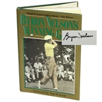 Byron Nelson Signed Winning Golf Book JSA ALOA