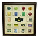 Masters 2016 Ltd Ed Commemorative Pin Set - Vintage Masters Badge Theme 174/250 Framed