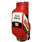 Sam Snead Signed Wilson FatShaft Full Size Red Golf Bag JSA ALOA