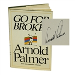 Arnold Palmer Signed Go For Broke! Book JSA ALOA