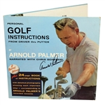 Arnold Palmer Signed Personal Golf Instructions Album Cover with Instructions & Vinyls JSA ALOA
