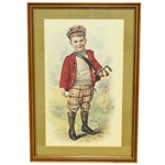 Undated & Unmarked Golf Boy Print - Framed