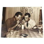 Jimmy Demaret & Ben Hogan Large B&W Frank Christian Photo - Drinking Shake
