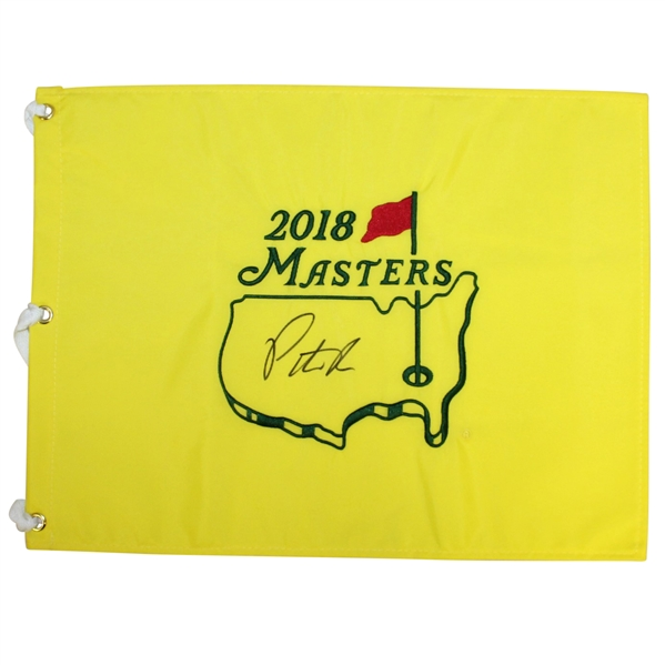 Patrick Reed Signed 2018 Masters Embroidered Flag JSA ALOA