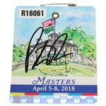 Patrick Reed Signed 2018 Masters Series Badge #R16061 PSA/DNA #AD72957