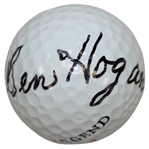 Ben Hogan Signed Legend Logo Golf Ball FULL JSA #Z69850