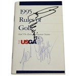 Tiger Woods & Lee Trevino Signed 1995 USGA Rule of Golf Booklet JSA ALOA