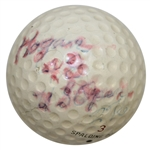 Ben Hogan 1948 US Open at Riviera CC Championship Used Spalding Dot Golf Ball-Gifted to Ralph Hutchison