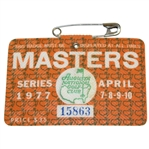 1977 Masters Tournament Series Badge #15863 - Tom Watson Winner