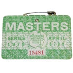1978 Masters Tournament Series Badge #15481 - Gary Player Winner