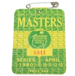1980 Masters Tournament Series Badge #6011 - Seve Ballesteros Winner
